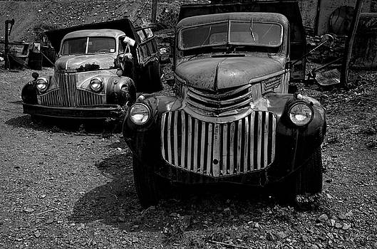 David Gordon - Two Old Trucks BW