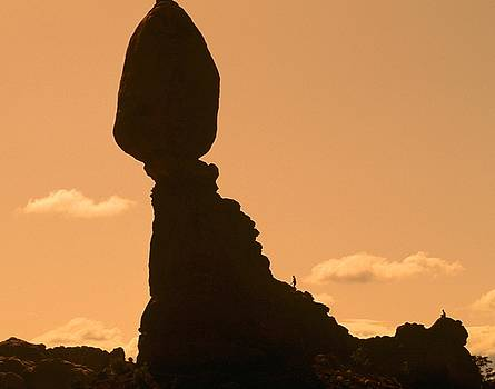 Two on Balanced Rock by Philip Bobrow