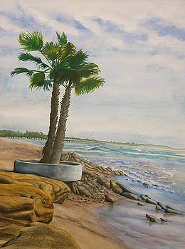 Two Palms by Teresa Beyer