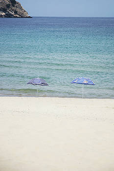 Newnow Photography By Vera Cepic - Two parasols on empty beach