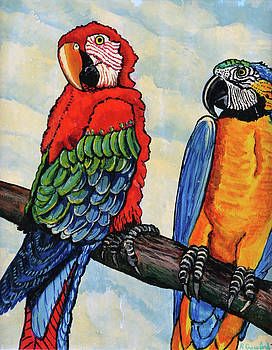 Two Parrots by Bob Crawford