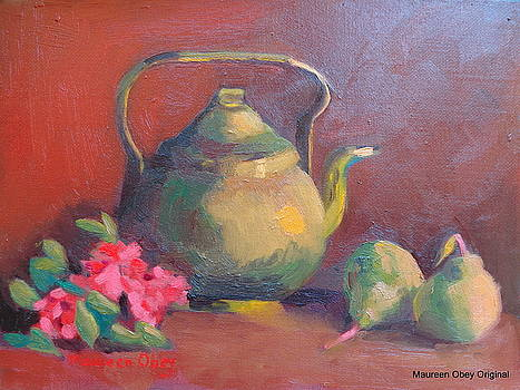 Two Pears and a Pot by Maureen Obey