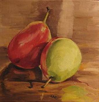 Two Pears by Cheryl Pass