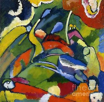 Kandinksy - Two Riders and Reclining Figure