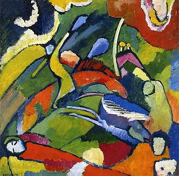 Kandinsky - Two Riders and Reclining Figure