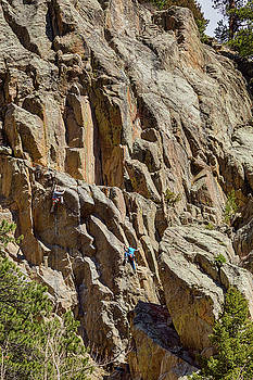 Two Rock Climbers Making Their Way by James BO Insogna