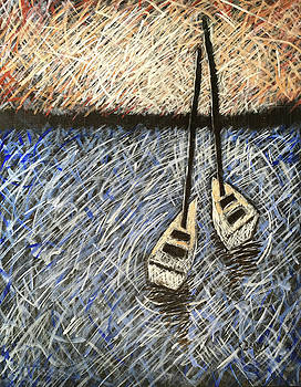 Two Sailboats by Karla Beatty