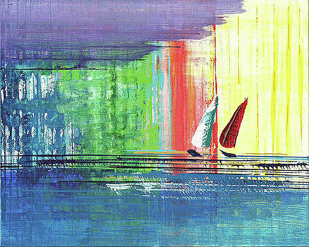1st Place - SeaScapes Art Exhibition - Two Sails by Cori Carroll
