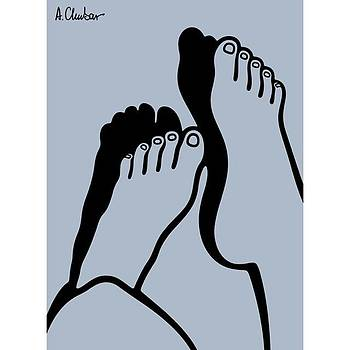 Two Shadowed Feet By Alexander by Alexander Chubar