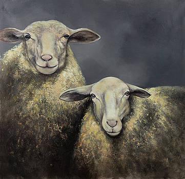 Two Sheeps by Atelier B Art Studio