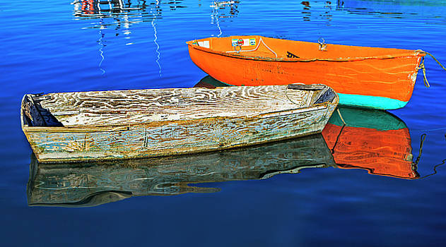 Two skiff reflections by Elaine Somers