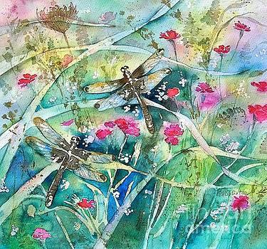 Two Summer Dragonflies by Diane Splinter