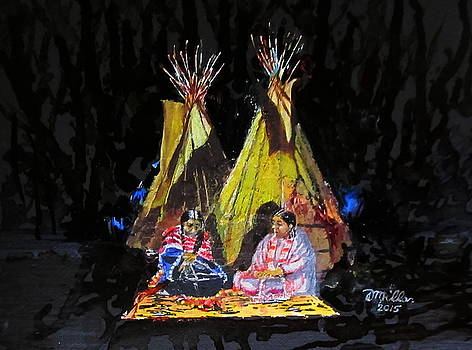 Two Teepees by Dennis Millar