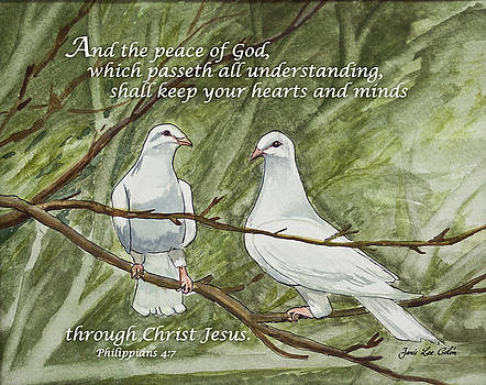 Two White Doves Philippians by Janis Lee Colon