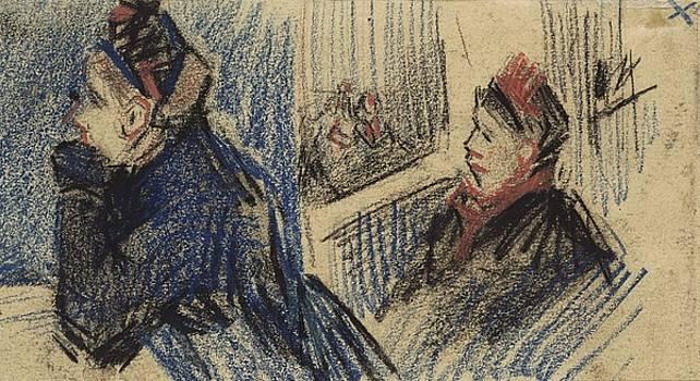 Two Women in a Balcony Box Antwerp, December 1885 Vincent van Gogh 1853  1890 by Artistic Panda