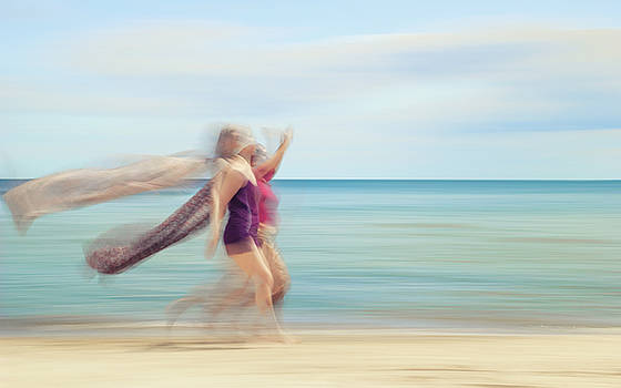 two women on beach No. 5 by Holger Nimtz