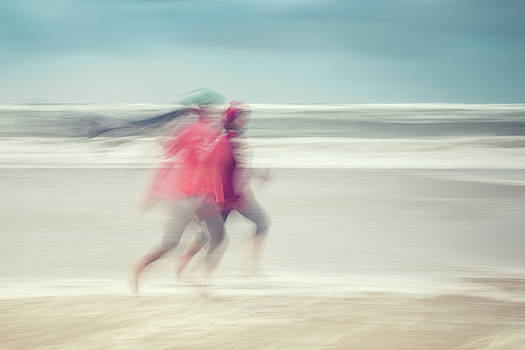 two women on beach No. 7 by Holger Nimtz