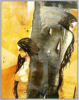 Two Women by Umesh Charole