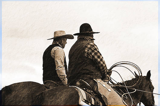 Two working cowboys by Susie Fisher