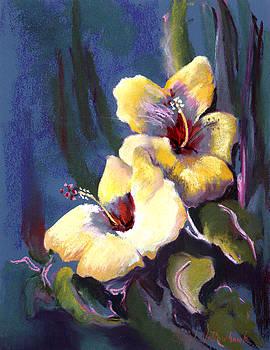 Two Yellow Hibiscus by Cheryl Yellowhawk