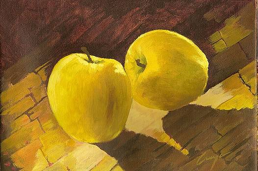 Two Yellow Pears by Victor Cuya