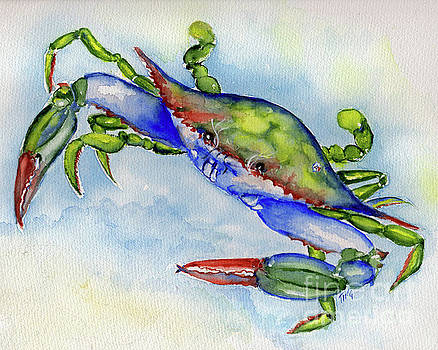 Tybee Blue Crab 2 by Doris Blessington