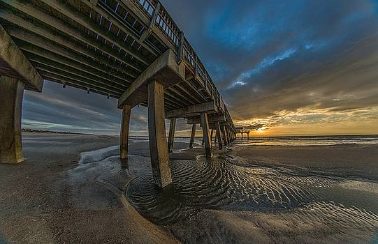 Tybee Island Beach Pier  by Bryan Xavier