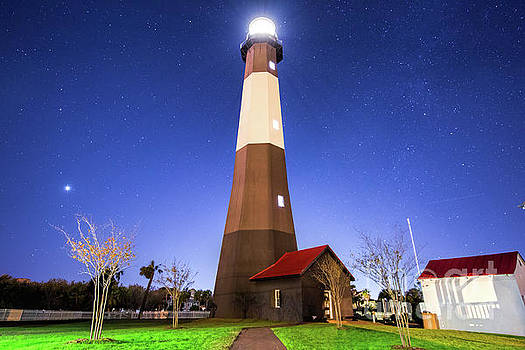 Tybee Island Light House Under the Stars by Robert Loe
