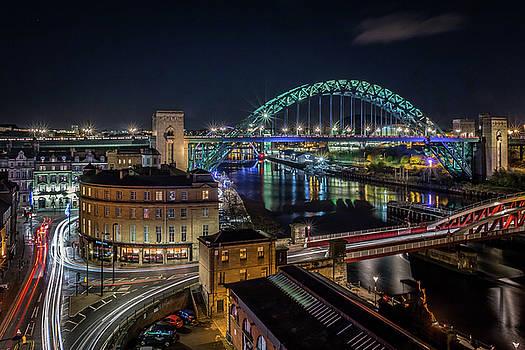 Tyne Bridge at Night by Colin Morgan