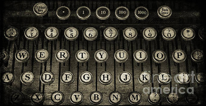 Typewriter Keys 2 by Cindi Ressler