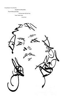 Typography Self Portrait by Brandy Woods