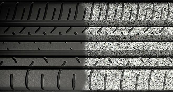 Tyre Tread Morphing To Asphalt by Allan Swart