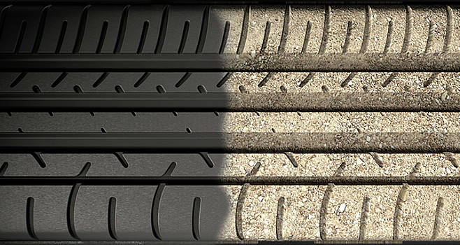 Tyre Tread Morphing To Ground by Allan Swart