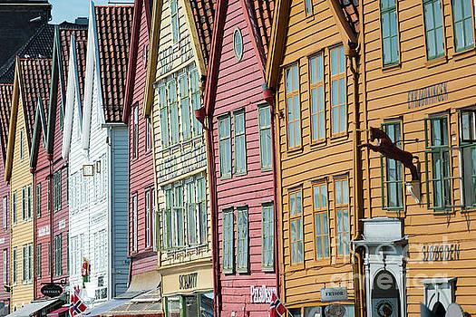 Tyske Bryggen, Bergen by Andrew Michael