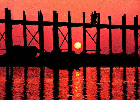 Dennis Cox - U Bein Bridge Sunset