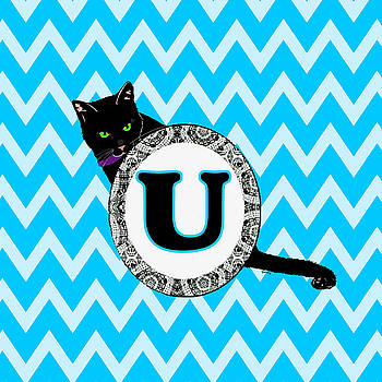 U Cat Chevron Monogram by Paintings by Gretzky
