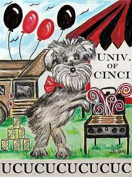 UC Tailgating Dog by Diane Pape