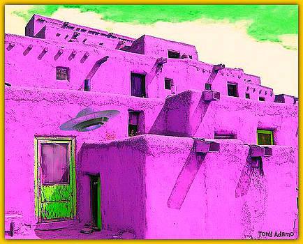 UFO Graffiti Taos New Mexico by Tony Adamo