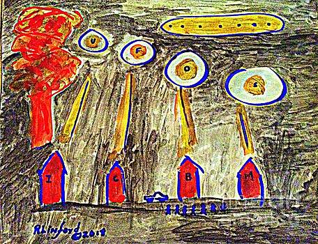 Armageddon UFOs ICBMs Mushroom Cloud one by Richard W Linford