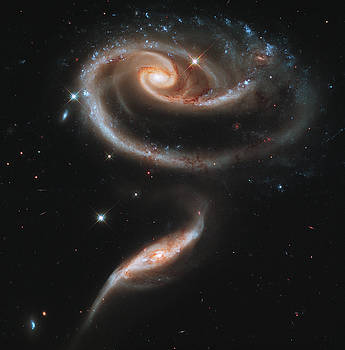 UGC 1810 and UGC 1813 in Arp 273 by NASA and the European Space Agency