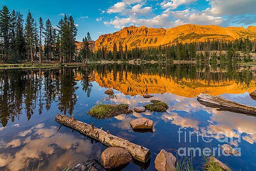 Uinta Mountains Sunset - Hayden Peak - Butterfly Lake - Utah by Gary Whitton