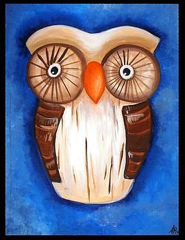 Ula The Wooden Owl by Alycia Ryan