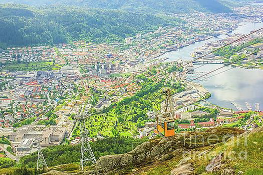 Ulriken mountain Bergen by Benny Marty