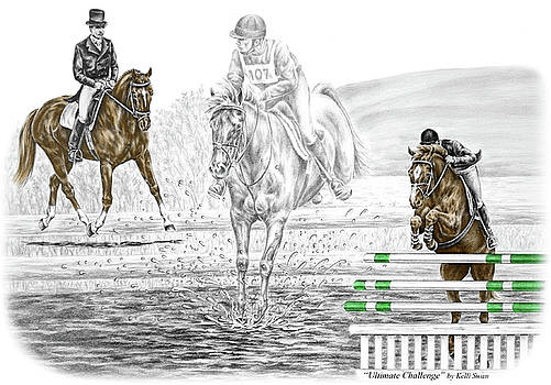 Kelli Swan - Ultimate Challenge - Horse Eventing Print color tinted