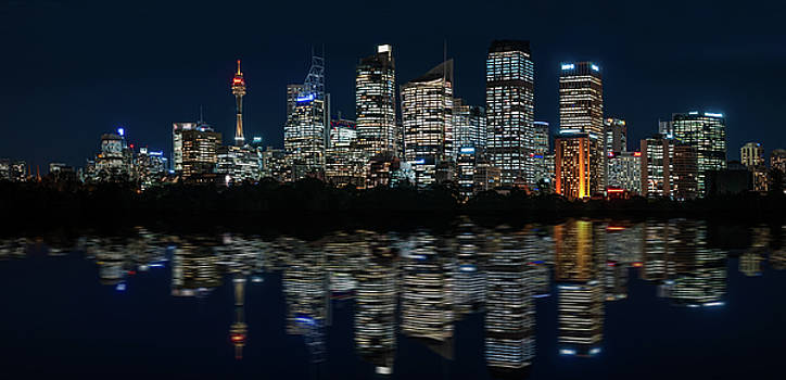 Ultra-wide Panorama of Sydney Waterfront Skyline by Daniela Constantinescu