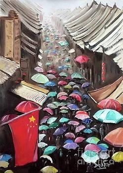 Derek Rutt - Umbrella Street In China