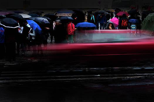 Colin Cuthbert - Umbrellas and Traffic