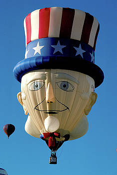 Uncle Sam Balloon in Albuquerque New Mexico by Carl Purcell