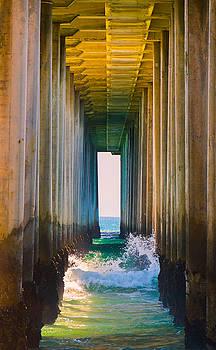 Under Huntington Beach Pier 4 by Stephen Thompson