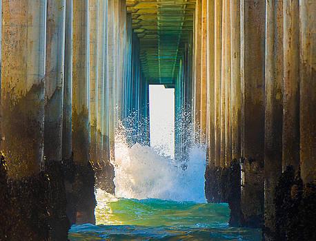 Under Huntington Beach Pier 8 by Stephen Thompson